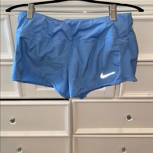 Light blue running shorts